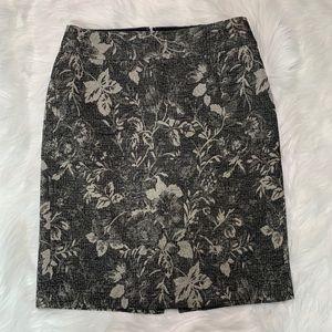 Silver pencil skirt black gray grey by Ann Taylor